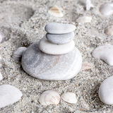 Balance  stones in sand Stock Photo