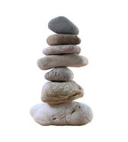 Balance Stones stacked to pyramid. Balance Stones stacked to pyramid isolated on white background and have clipping paths to easy deployment royalty free stock photos