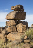 Balance. Strange rock formations in Namibia, Southern Africa royalty free stock photos