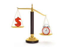 Balance time and money Royalty Free Stock Images