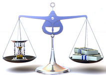 Balance of time and money Royalty Free Stock Photo