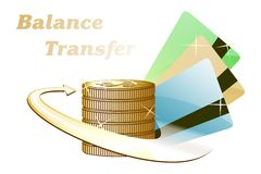 Balance Transfer Credit Cards Royalty Free Stock Photography