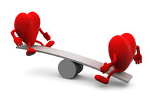 Balance between two hearts Royalty Free Stock Photography