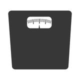 balance weight front view, graphic Royalty Free Stock Image