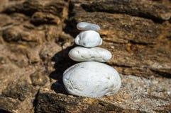 Balance white stone. On the atlantic ocean Royalty Free Stock Photo
