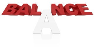 Balance word 3D Royalty Free Stock Photography