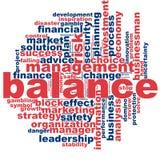 Balance word cloud Stock Photos