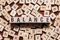 BALANCE word concept stock photography