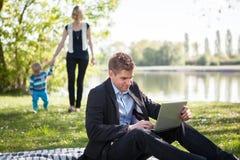 Balance between work and family life. Balance between work and family Royalty Free Stock Photo