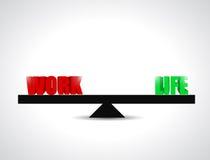 Balance work and life concept illustration stock illustration