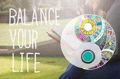 Balance Your Life Equality Steady Concept Stock Images