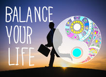 Balance Your Life Equality Steady Concept Stock Image