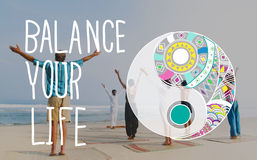 Balance Your Life Equality Steady Concept Stock Photography
