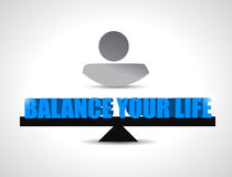 Balance your live concept illustration design. Over a white background Royalty Free Stock Photo