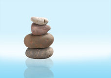 Balance zen stones in clear background Royalty Free Stock Photos