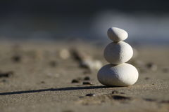 Balance. Zen stones photographed on Corfu island, Greece during daytime. Camera used Canon EOS 50D with Tamron 70-300mm f4;5.6 lens Stock Image