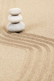 Balance zen stones in sand Royalty Free Stock Photo