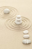Balance zen stones in sand Royalty Free Stock Image