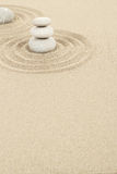 Balance zen stones in sand Stock Photography