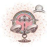 Balance zodiaque des symboles douze de signe de conception de dessin-modèles divers Photographie stock