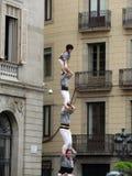 Balanceakt in Barcelona lizenzfreie stockfotografie