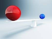 Balanced balls Stock Photo