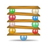 Balanced balls Stock Image