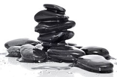 Balanced black zen stones Stock Images