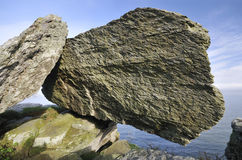 Balanced Devonian Limestone Rock Royalty Free Stock Photos