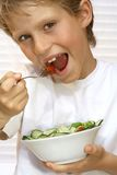 Balanced diet. Healthy child eating balanced diet Stock Photography
