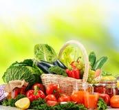 Balanced diet based on raw organic vegetables.  Stock Image