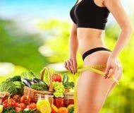 Balanced diet based on raw organic vegetables Stock Photos
