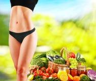 Balanced diet based on raw organic vegetables Royalty Free Stock Photos