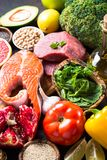 Balanced diet food background. Stock Images