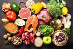 Balanced diet food background. Stock Photo