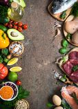 Balanced diet. Organic food for healthy nutrition. Royalty Free Stock Photos