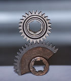 Balanced gears Royalty Free Stock Images