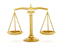 Balanced gold scale Royalty Free Stock Images