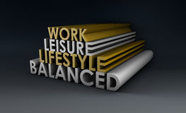 Balanced Lifestyle. Concept as a Abstract in 3d Stock Images