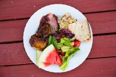 Balanced Meal Portion Stock Image