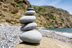 Balanced pebble stones Royalty Free Stock Image