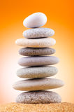 Balanced pebbles Stock Images