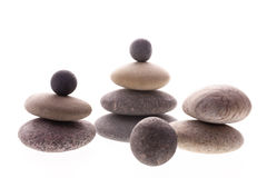 Balanced pebbles Royalty Free Stock Images