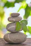 Balanced pebbles isolated Stock Photos