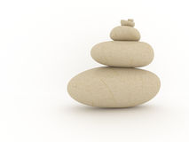 Balanced pile of stones. Stock Photos