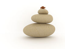 Balanced pile of stones Stock Photo
