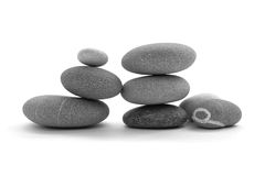 Balanced pile of zen stones Royalty Free Stock Image