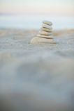 Balanced Pyramid of Stones Royalty Free Stock Images