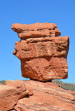 Balanced Red Rock Garden of the Gods, Colorado Springs, Colorado. A huge 2 story boulder balances perfectly Stock Photography