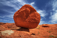 A Balanced Rock. Found along the Shafer Trail in southern Utah Stock Photography